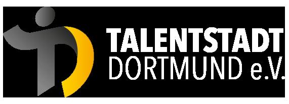 Logo der Talentstadt Dortmund e.V. - weiß
